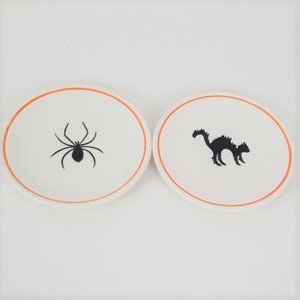 2 Williams Sonoma Trick or Treat Appetizer Plates